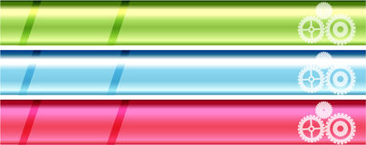 Bright metallic banner set Royalty Free Stock Image