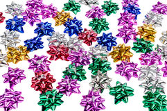 Bright metallic bows Royalty Free Stock Photography