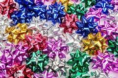 Bright metallic bows Royalty Free Stock Photos