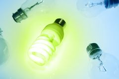 Bright modern bulb Stock Images