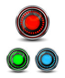 Bright modern buttons Royalty Free Stock Images
