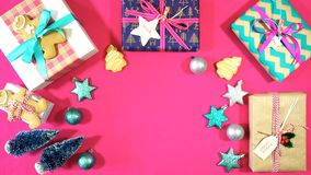 Bright modern Christmas Holiday overhead royalty free stock photos