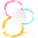 Bright modern circle design elements background Royalty Free Stock Image