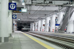 Bright modern indoor train station Royalty Free Stock Photography