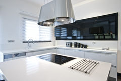 Bright modern kitchen Stock Photos