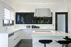 Bright modern kitchen Royalty Free Stock Image