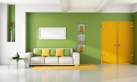 Bright modern living room Royalty Free Stock Images