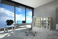 Bright modern spacious office interior Stock Photos