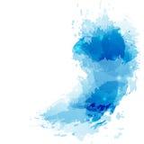 Bright modern splatter abstract background Stock Photo