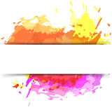 Bright modern splatter paint background Stock Photo