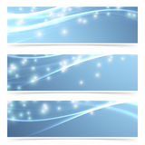 Bright modern swoosh speed sparkling flare line header Royalty Free Stock Photo