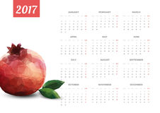 Bright Modern white Calendar for 2017. Week Starts Monday Stock Photos