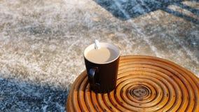 Bright morning coffee stock image