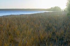 Bright morning landscape scene over beautiful lake Stock Photography