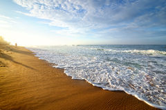 Bright morning on ocean Royalty Free Stock Photos