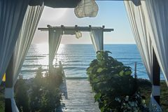 Bright morning by the sea Royalty Free Stock Photography