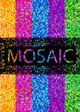 Bright mosaic background Stock Photography