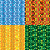 Bright Mosaic Backgrounds Set Stock Photography
