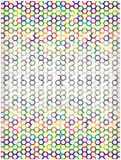 Bright mosaic circles wallpaper Stock Photography