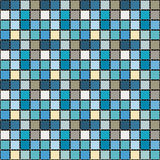 Bright mosaic seamless pattern background square tiles Stock Photos