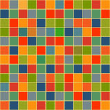 Bright mosaic seamless pattern background square tiles Stock Image