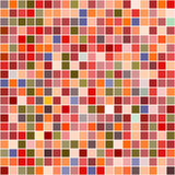 Bright mosaic seamless pattern background square tiles Stock Photo