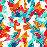 Bright mosaic seamless pattern Stock Photo