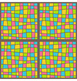 Bright mosaic seamless pattern Royalty Free Stock Image