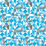 Bright mosaic seamless pattern with geometric figures Royalty Free Stock Photo