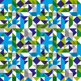 Bright mosaic seamless pattern with geometric figures Royalty Free Stock Images