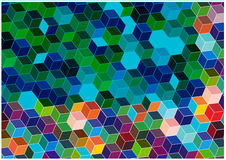 Bright mosaic tiles background Stock Image