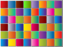 Bright mosaic tiles background Stock Photos