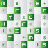 Bright mosaic tiles background with christmas icons Stock Photo