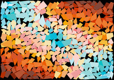 Bright mosaic tiles background Stock Photo