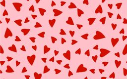Bright motley pattern seamless from many different colorful red love festive hearts of gentle. Vector illustration royalty free illustration