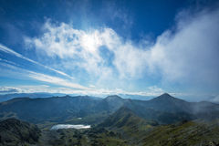 Bright mountain landscape in the Alps Stock Images