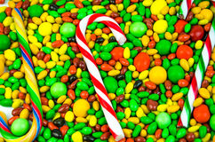 Bright multi-colored candy. Sweets Royalty Free Stock Photo
