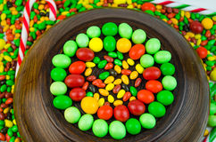 Bright multi-colored candy. Sweets Royalty Free Stock Photos