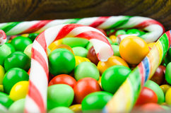 Bright multi-colored candy. Sweets Royalty Free Stock Images