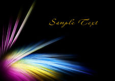 Bright multi-colored feather Royalty Free Stock Photo
