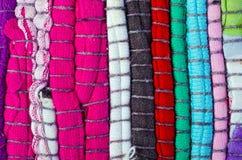 Bright multi-colored striped background Stock Photo
