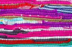 Bright multi-colored striped background Stock Image