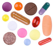 Bright multi-colored tablets Stock Images
