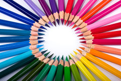 Bright multi-coloured circle Royalty Free Stock Images