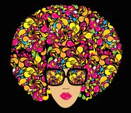 Bright multi-coloured fashion illustration. Royalty Free Stock Images