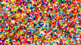 Bright multicolor beads background Royalty Free Stock Images