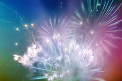 Bright multicolor fireworks Stock Image