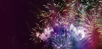Bright multicolor fireworks Royalty Free Stock Photo