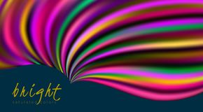 Bright multicolor template with vibrant colorful wavy shape royalty free illustration