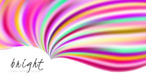 Bright multicolor template with vibrant colorful wavy shape vector illustration